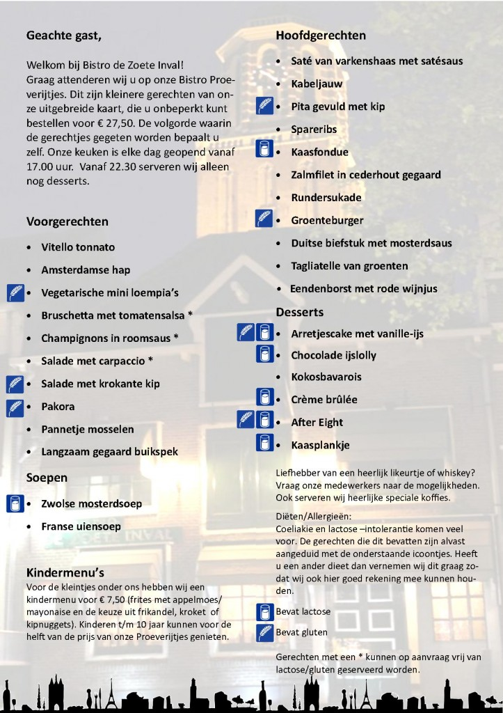 Ingangsdatum 4e menukaart 29-08-2018